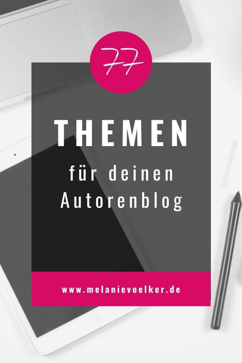 blog - autorenblog themen finden